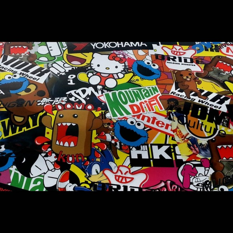 sticker bomb hks yoko 150x150 cm dipit shop. Black Bedroom Furniture Sets. Home Design Ideas