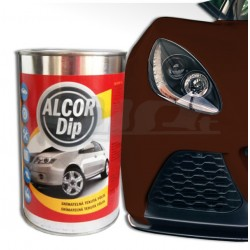 Set na auto ALCOR DIP hnědá čokoládová matná
